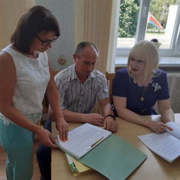 Рабочий визит областного комитета профсоюза в Славгородский район