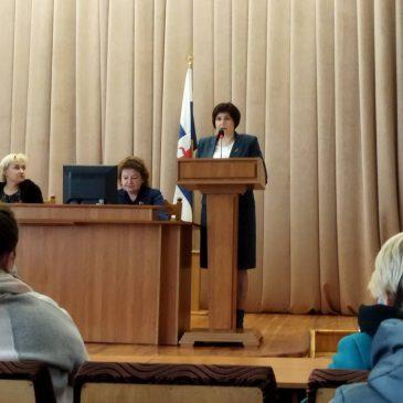Встреча председателя Центрального комитета с профсоюзным активом города Мстиславля